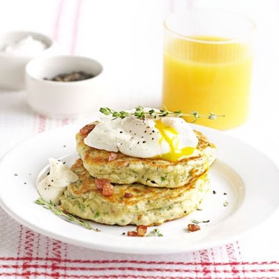 Bacon & Parsley Hotcakes