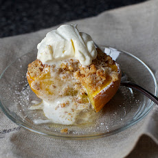 Almond-Crisped Peaches