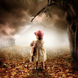Get Lost by Bang Munce - Digital Art People ( doll, lost, park, children, forest, people, composite, manipulation, kid )