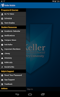 Screenshot of Keller Graduate School App