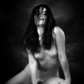 Wild Child by John Gross - Nudes & Boudoir Artistic Nude ( wild, sexy, art nude, black and white, nice figure. )