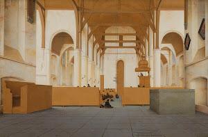 RIJKS: Pieter Jansz. Saenredam: Interior of the Sint-Odulphuskerk in Assendelft 1649