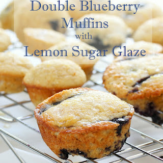 Double Blueberry Muffins with Lemon Sugar Glaze #dairyfree
