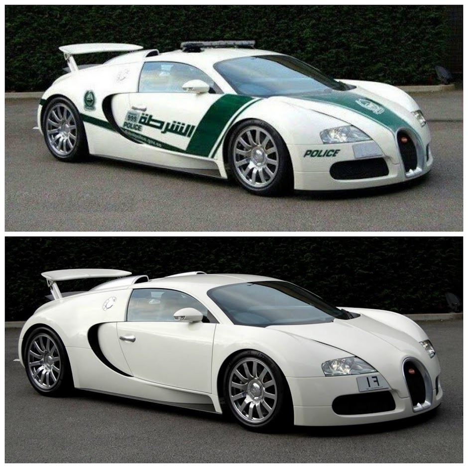 Bugatti Veyron Police Car is a fake