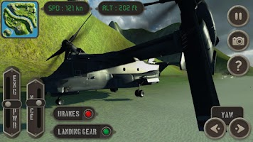 Screenshot of V22 Osprey Flight Simulator