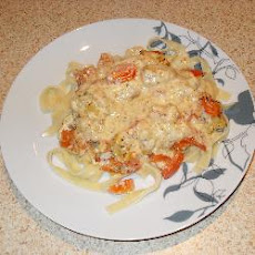 Fish Gratin With Tagliatelle