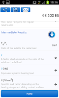 Screenshot of SKF Bearing Calculator