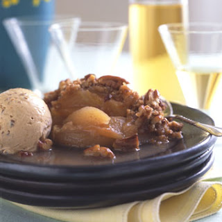 Apple Crisp with Prune Tequila Ice Cream