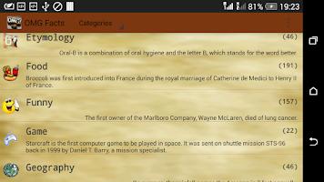 Screenshot of OMG Facts (Funny)