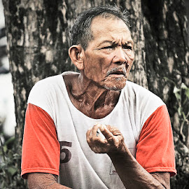 Old Man by Wayan Gunada - People Portraits of Men ( balinese, bali, village, people, portrait, man )