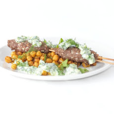 Kofte Kebabs With Spicy Harissa Yogurt Sauce And Grilled ...