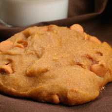 Pumpkin Cookies with Butterscotch Chips