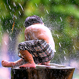 Playing to Rain by Doeh Namaku - Babies & Children Children Candids