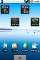 Screenshot of Digital Micro Clock 1x1
