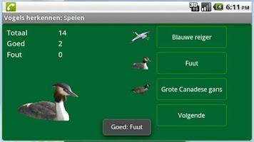Screenshot of Vogels herkennen