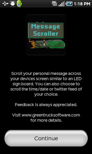 Message Scroller