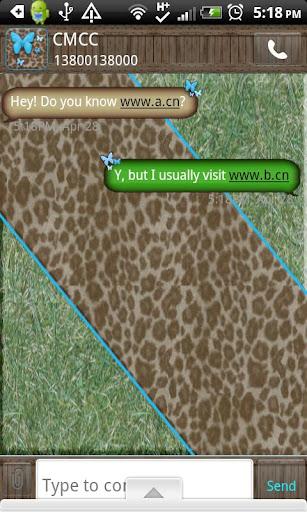 GO SMS THEME TurquoiseGrass