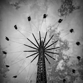 Fair by Harrie van der Meer - News & Events Entertainment ( location, black and white, events, event, fun, fair, photography, street photography )