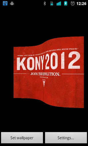 Kony 2012 Live Wallpaper Flag