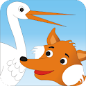 The Fox and Stork - Kids Story icon