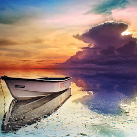 Boat in boat by Pande Gunawan - Landscapes Sunsets & Sunrises