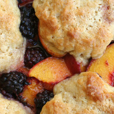 Blackberry-Peach Cobbler with Sour Cream Biscuits Recipe