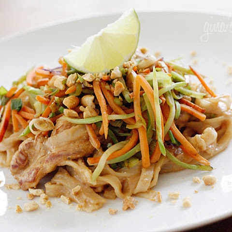 Asian Peanut Noodles with Chicken