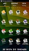 Screenshot of 3D ICON Go launcher theme