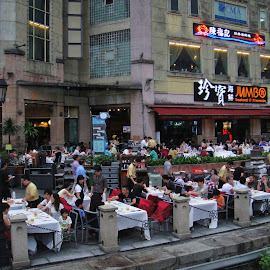 Seafood Restaurant  by Koh Chip Whye - City,  Street & Park  Street Scenes (  )