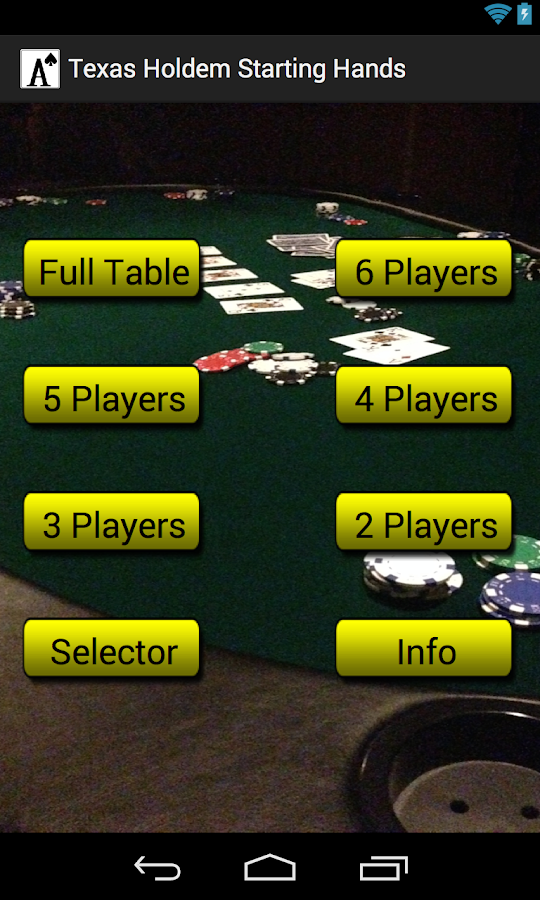 Holdem indicator for android