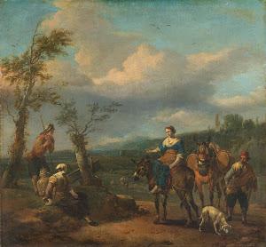 RIJKS: Johannes Lingelbach: painting 1674
