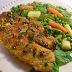 Panko-Crusted Sole With Basil, Garlic and Orange