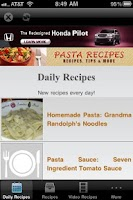 Screenshot of Pasta Recipes!