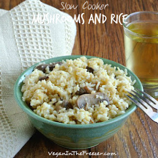 Slow Cooker Mushrooms and Rice