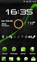 Screenshot of GO Launcher Theme Black Green