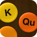 K and Q - criss cross words icon