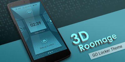 Screenshot of 3D ROOMAGE GO LOCKER THEME