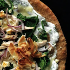 Chicken Spanakopita Pizza