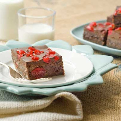 Gluten Free Chocolate Covered Cherries Brownies