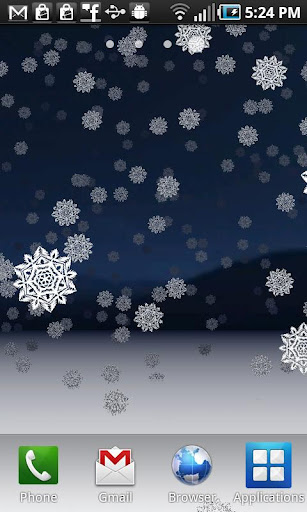 Snowy Night 3D Wallpaper Pro