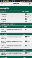 Screenshot of Prairie State Bank Mobile