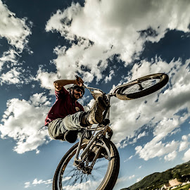 by Nathan Reitz - Sports & Fitness Other Sports ( extreme, mountain biking, motocross, cycling, jump jam, sports, colorado, bmx, trick, jump, competition, steamboat springs, bike, photo, camera, steamboat )