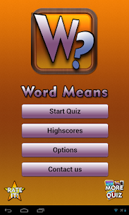 Word Means - screenshot