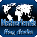 Netherlands flag clocks icon