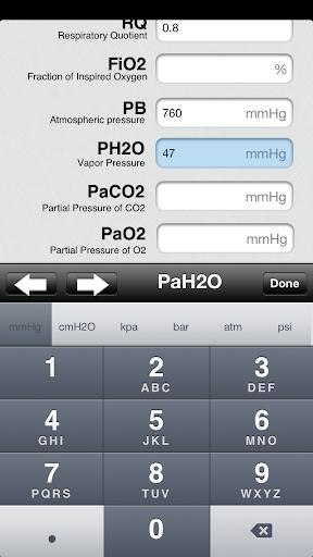 RespCalc - Medical Calculator - screenshot