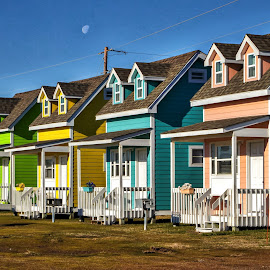 Easter Egg Houses by Carol Plummer - Buildings & Architecture Homes ( houses, obx, colorful, buildings, , mood factory, vibrant, happiness, January, moods, emotions, inspiration )