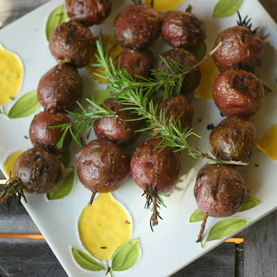 Grilled Potato Rosemary Kebabs