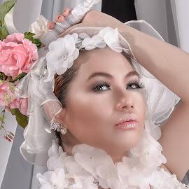 The Promise of Springtime by Paulo Inocencio - Wedding Bride ( wedding gown, woman )
