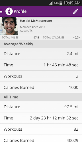 Map My Walk+ GPS Pedometer - screenshot