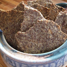 Garlic Parmesan Flax Seed Crackers - Low Carb!